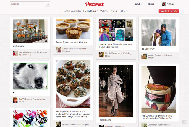 Pinterest User Flows