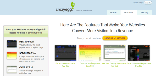 crazyegg features screenshot