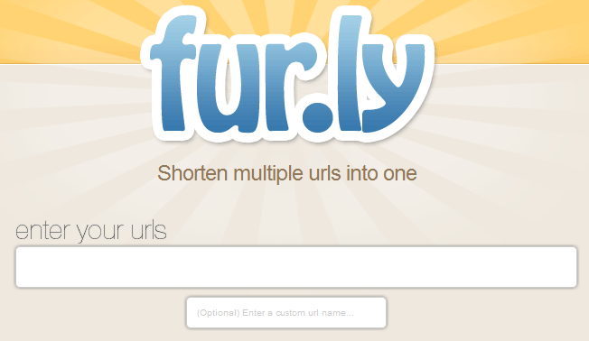 fur.ly homepage