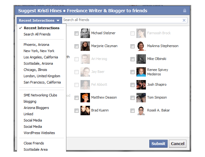 new facebook pages build audience invite friends