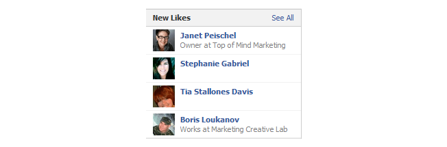 new facebook pages likes