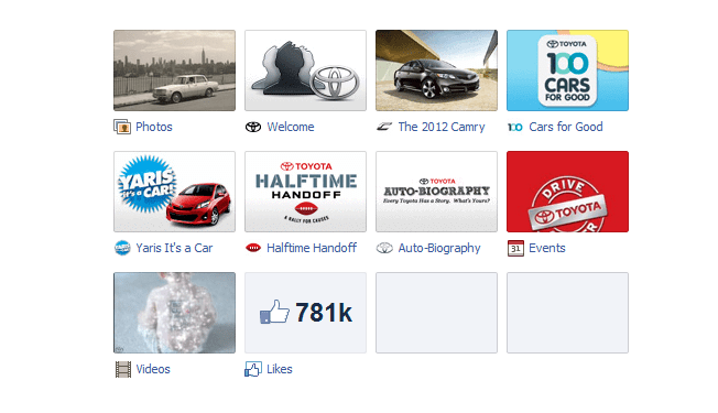 new facebook pages toyota