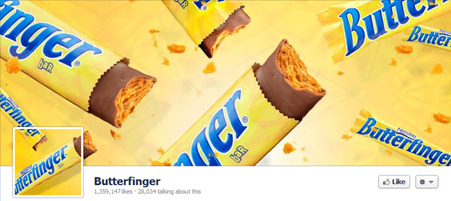 timeline cover photo example butterfinger