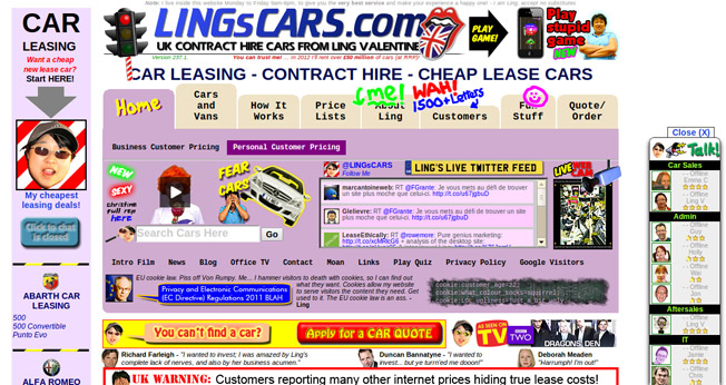 Ling's Cars Home Page