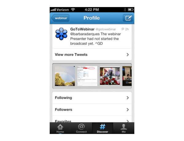 mobile twitter profile photos