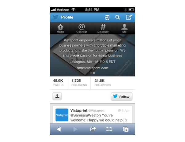 profile header mobile