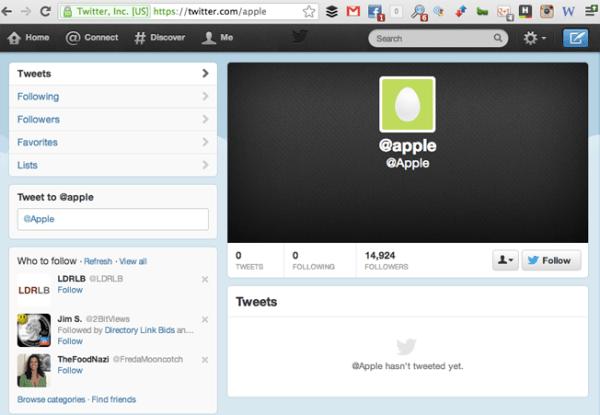 unbranded twitter presence
