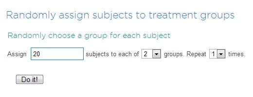 randomly assign subjects to treatment