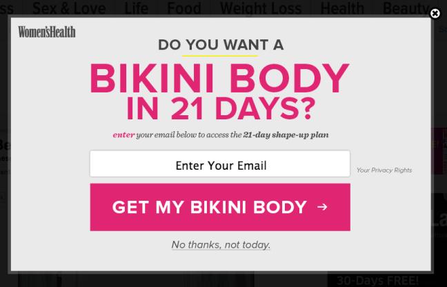 22 bikini body