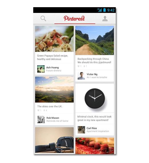Pinterest Feed Mobile