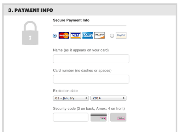 credit card threadless