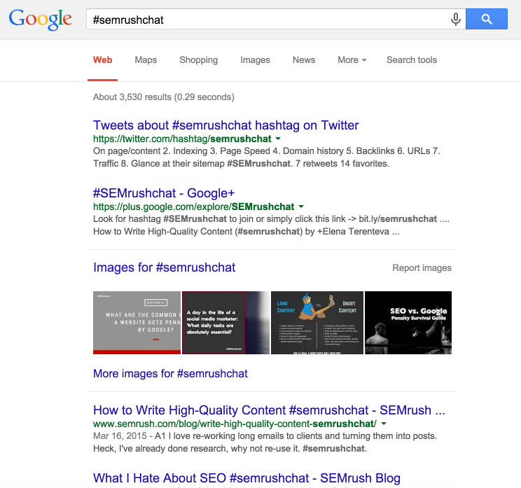 semrush-hashtag-google-search-results