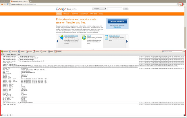 google-analytics-debugger-chrome-screenshot