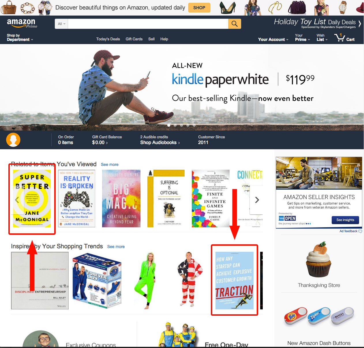 amazon-home-page-personalization-ux