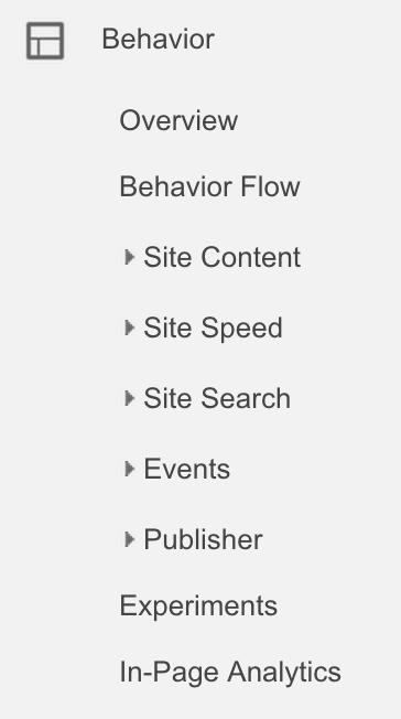 Behavior Section-google-analytics