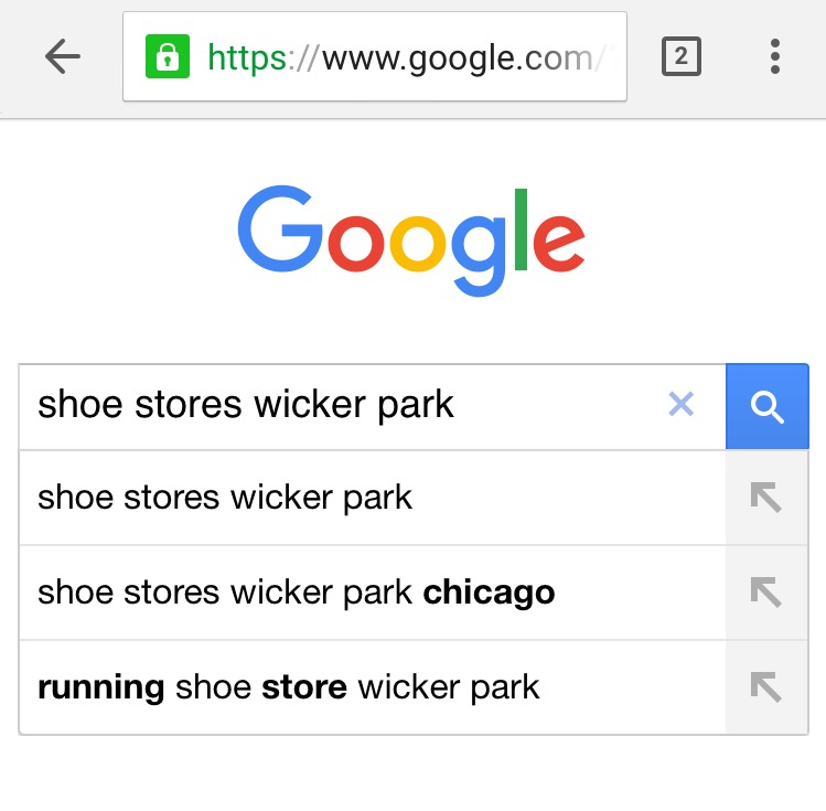 google-local-search-keywords