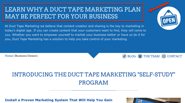 duct-tape-marketing-headline