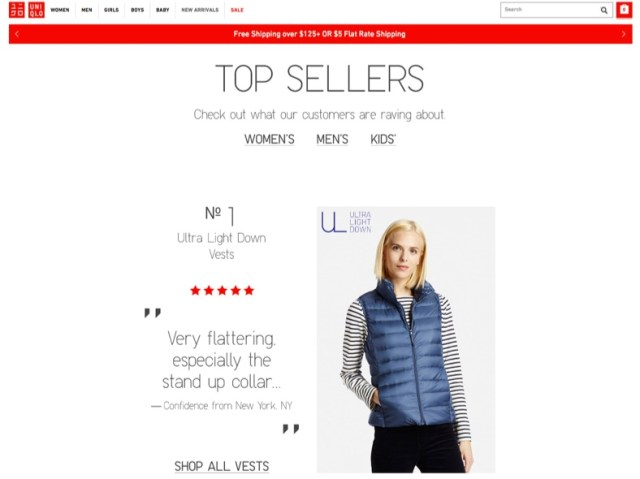 top-sellers-ecommerce-page