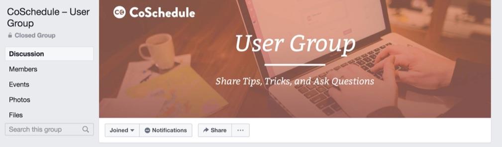 coschedule Facebook group