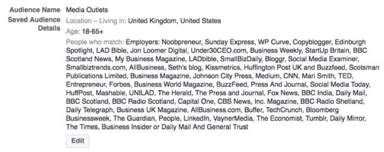employer targeting media Facebook advertising audience