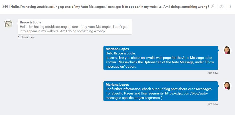 pipz in app messaging
