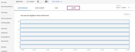 ad scheduler adwords
