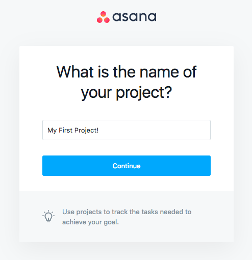 asana onboarding name of project