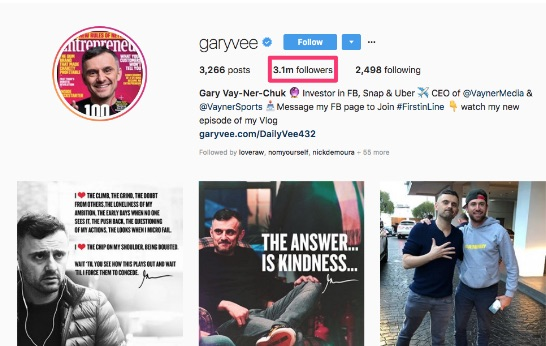 garyvee instagram followers