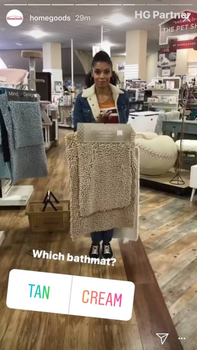 homegoods tan cream instagram