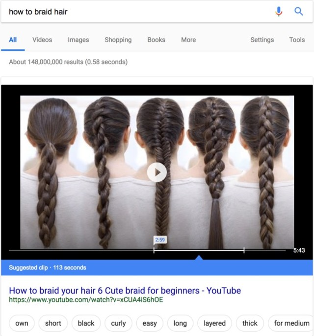 how to braid hair rich snippets on google search