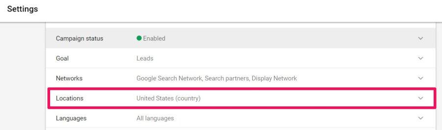 locations in adwords
