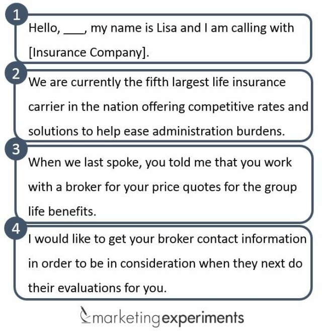 sales team script