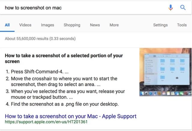 take a screenshot google search