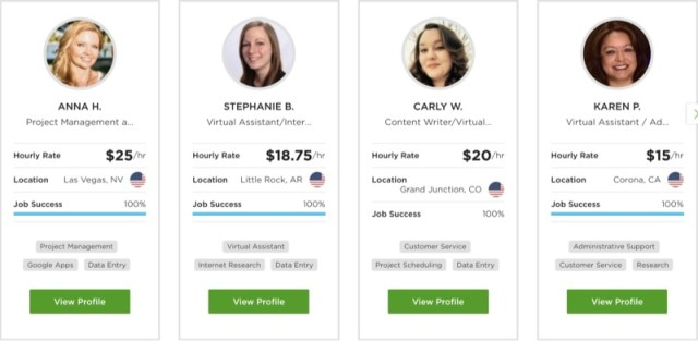 virtual assistants on upwork