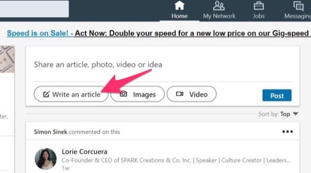 write an article linkedin