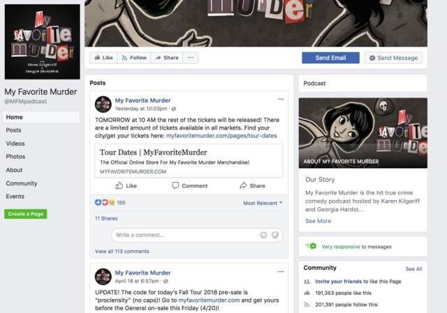 my favorite murder facebook page