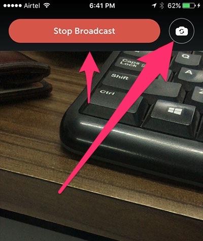 stop periscope broadcast