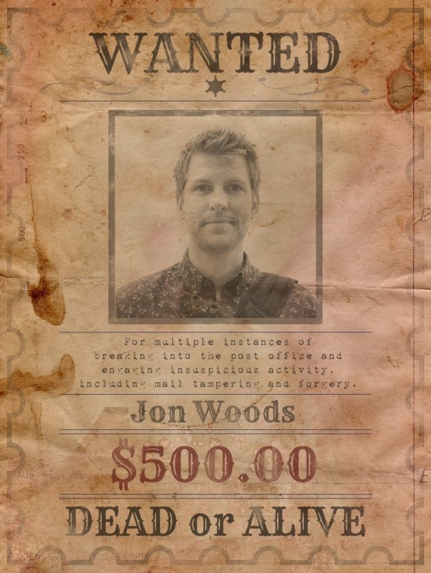 wanted jon woods poster