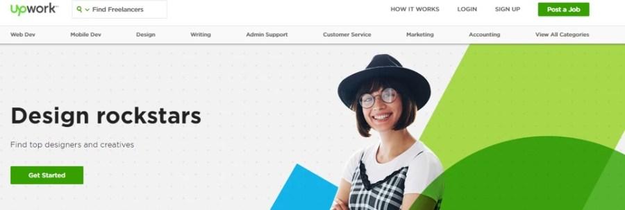 upwork homepage in 2018