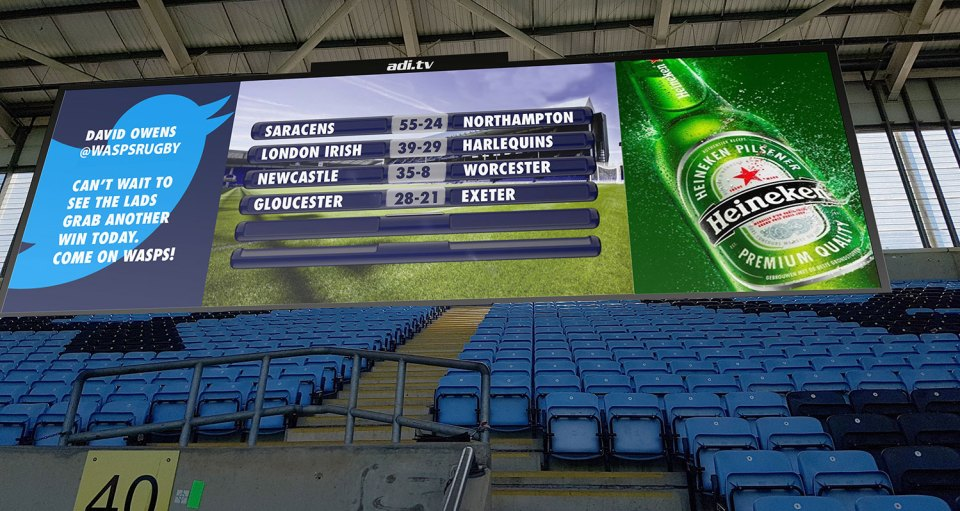 LED screen at the Ricoh Arena - Kitcast Blog