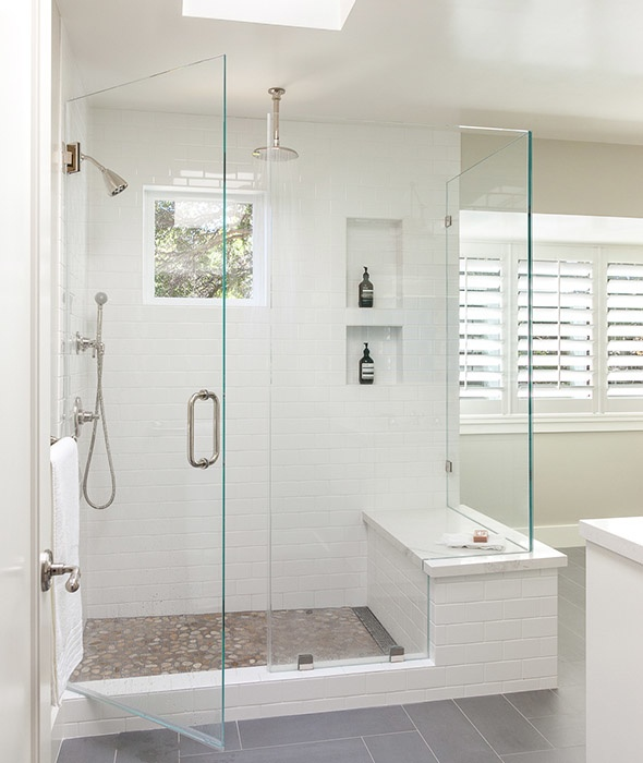 how to easily clean tiled shower stalls