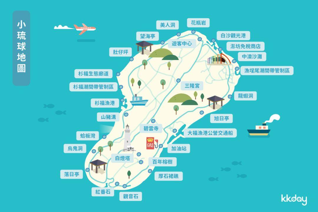 小琉球景點、小琉球地圖、小琉球景點地圖