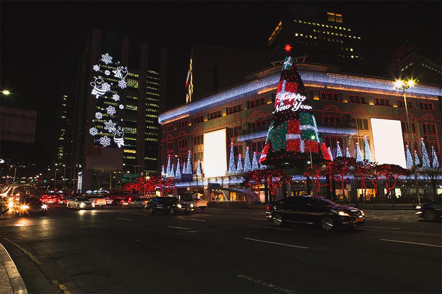 首爾聖誕節 明洞新世界百貨