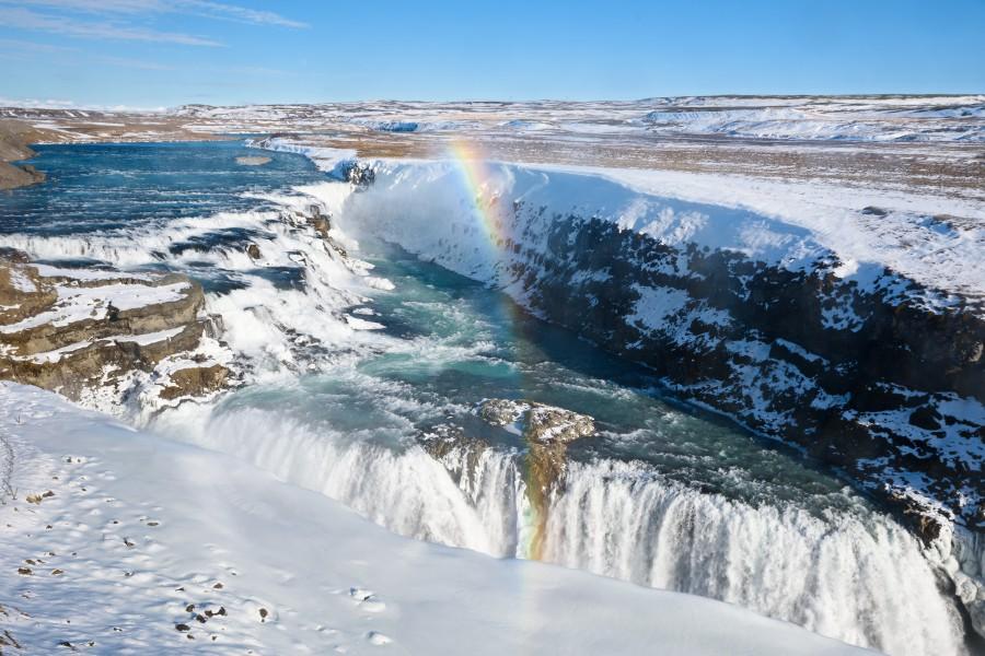 Iceland Gullfoss Waterfall Ashutterstock 612907064 2