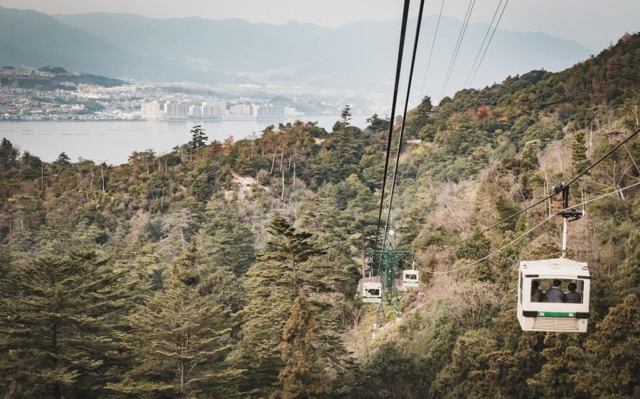 Japan Hiroshima Miyajima Island Cable car AShutterstock 1269461614
