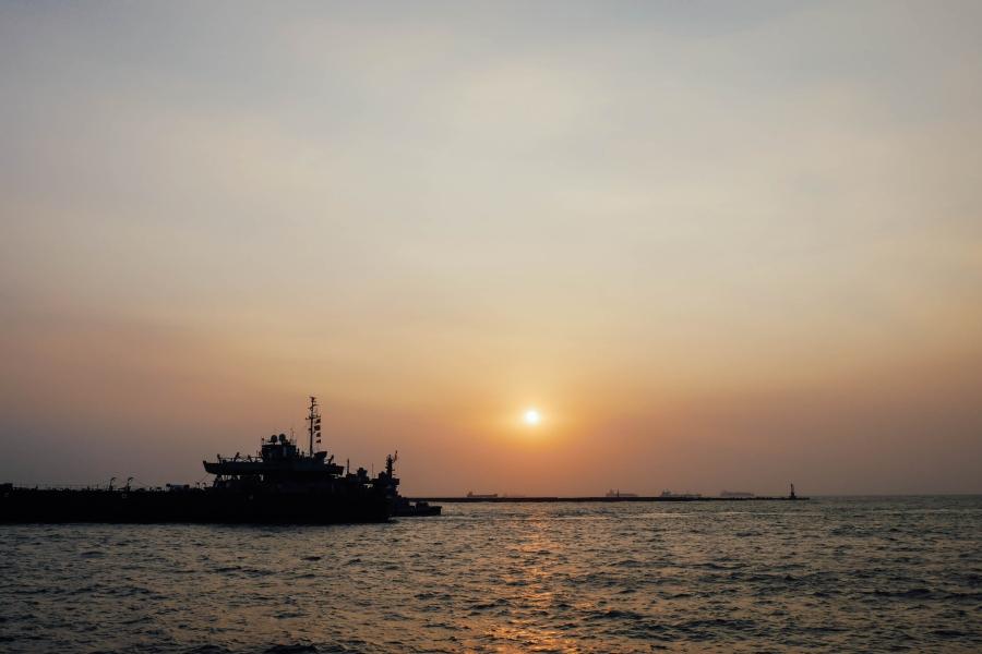 高雄西子灣看夕陽