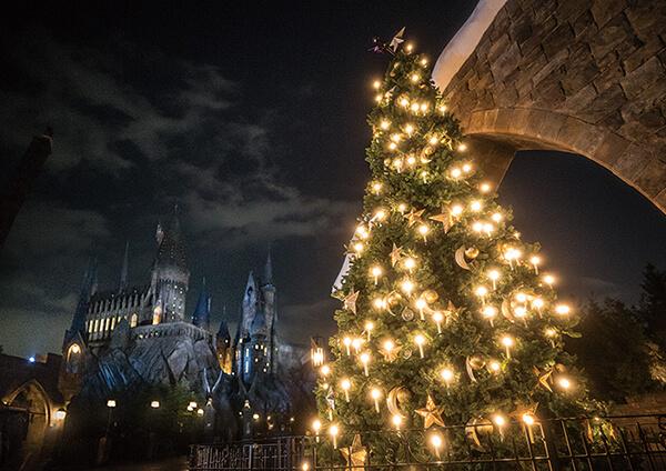 日本環球影城 哈利波特活米村聖誕樹