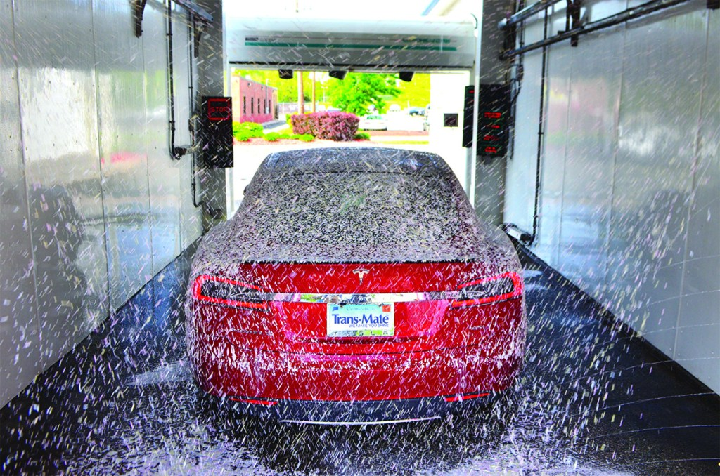 Car in Touch-Free Automatic Wash