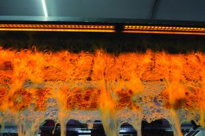 AmberFoam-300x199 Brightening Up A Car Wash With Color LEDs!