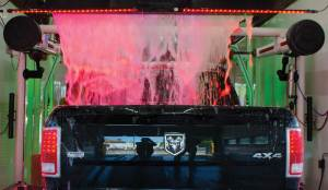 TruckRedFoam-300x174 Brightening Up A Car Wash With Color LEDs!